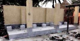 Wudu area under construction